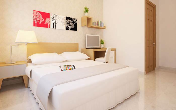Phòng ngủ tại căn nhà mẫu của dự án căn hộ 8x plus