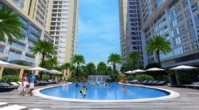 Hồ bợi nội khu căn hộ Moonlight Park View Bình Tân