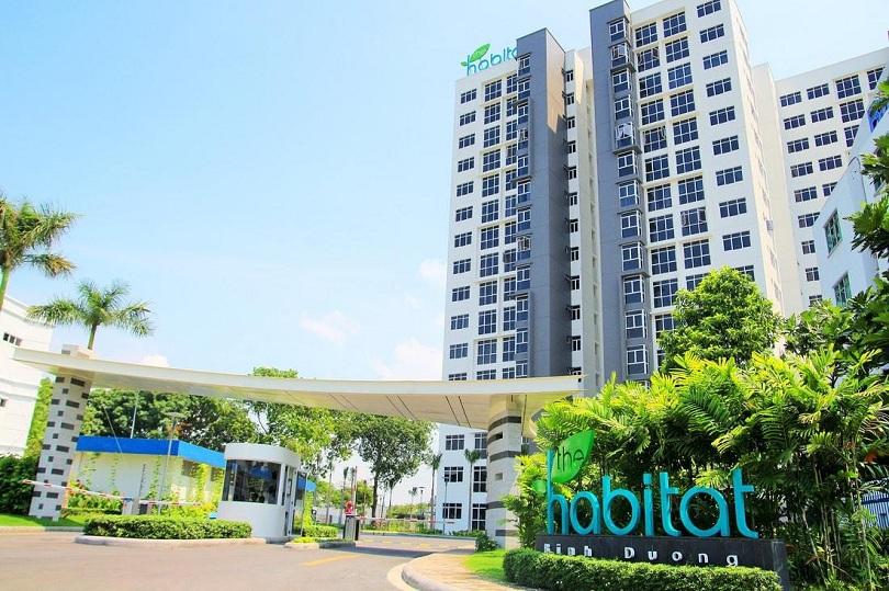Moi truong song xanh trong khu can ho Habitat Binh Duong