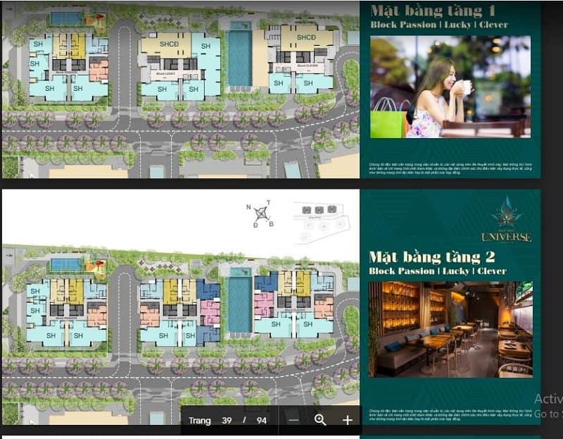 Cụ thể mặt bằng tầng 1 và 2 của chung cư