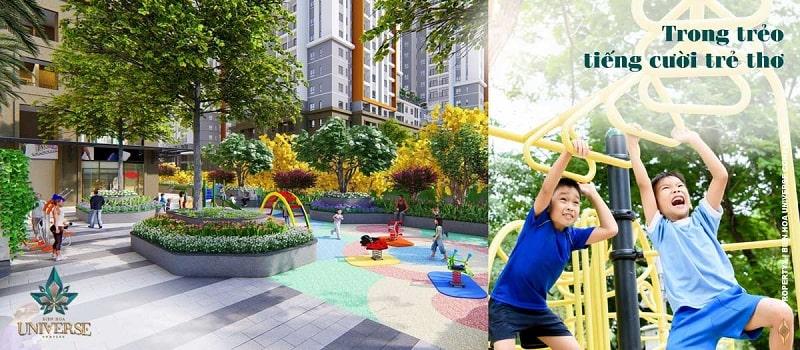 Dự án Biên Hòa Universe Complex tràn ngập không gian xanh với công viên quy mô lớn