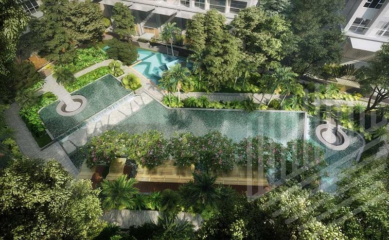 Công viên nội khu dự án Lavita ngập tràn màu xanh mát là nơi thư giãn tuyệt vời cho cư dân