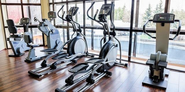 Phòng tập gym của dự án được xây dựng ngay bên hồ bơi với hệ thống máy móc tiêu chuẩn