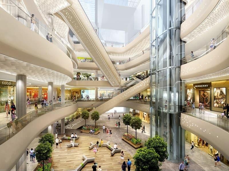 Khu trung tâm thương mại cao cấp đáp ứng nhu cầu mua sắm của dư dân