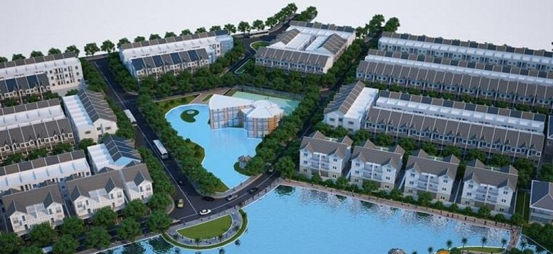 Phối cảnh biệt thự song lập sẽ được xây dựng trong Richmond Quy Nhơn