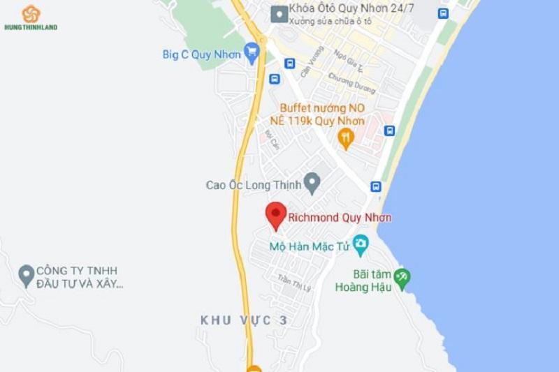 Richmond Quy Nhơn được bao quanh bởi hệ thống giao thông hoàn thiện