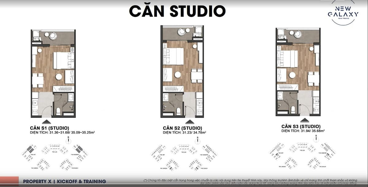 Layout thiết kế mẫu căn Studio